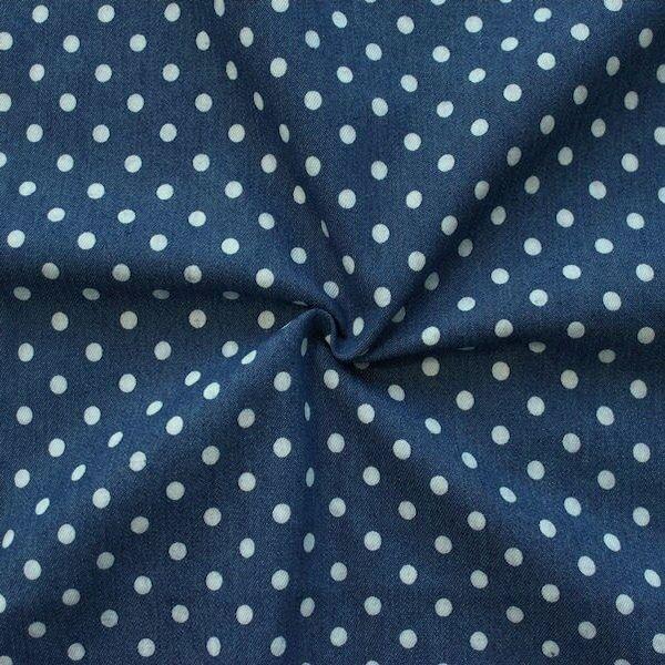 Stretch Denim Jeans Punkte mittel Indigo-Blau