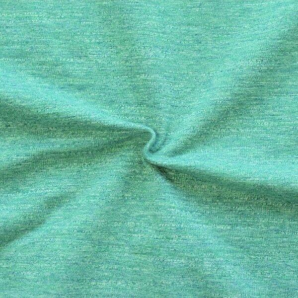 Sweatshirt Baumwollstoff Melange Mint Türkis