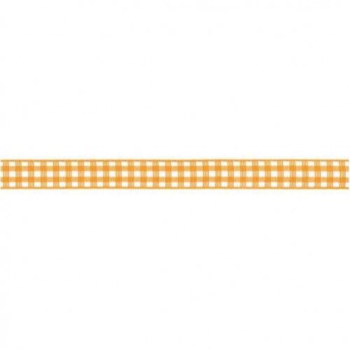 Prym Dekoband kariert 10mm x 4m (Breite / Länge) gelb / weiss