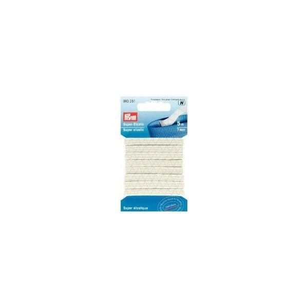 Prym 5m Super-Elastic 7mm breit weiß