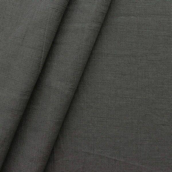 100% Leinen Stoff Artikel Girona Farbe Dunkel-Grau