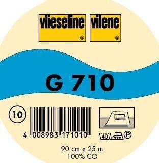 Vlieseline leichte Gewebeeinlage aufbügelbar Typ G 710 Farbe Weiss