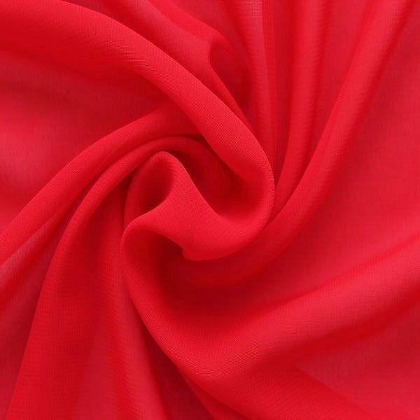 Polyester Chiffon Rot