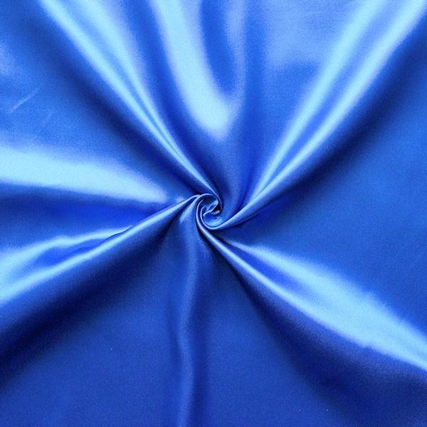 Satin Stoff Royal-Blau