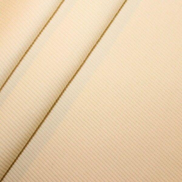 Baumwoll Bündchenstoff Creme-Weiss