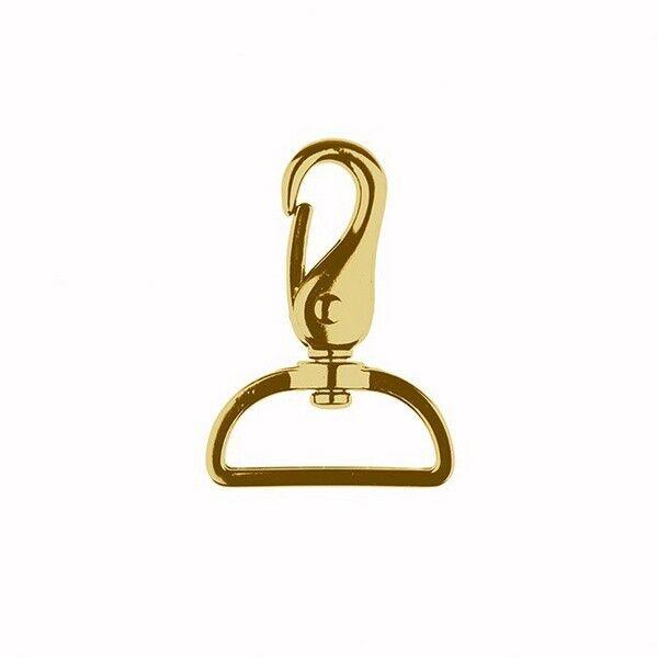 Karabinerhaken 40mm Farbe Gold