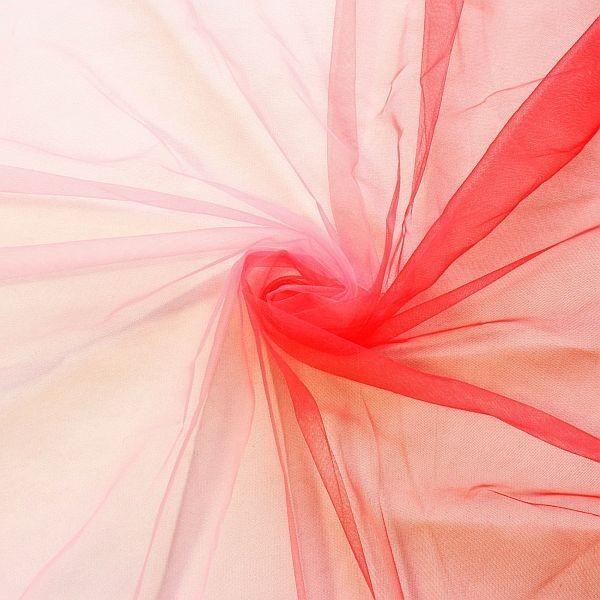 Soft Tüll Regenbogen Rot-Rosa