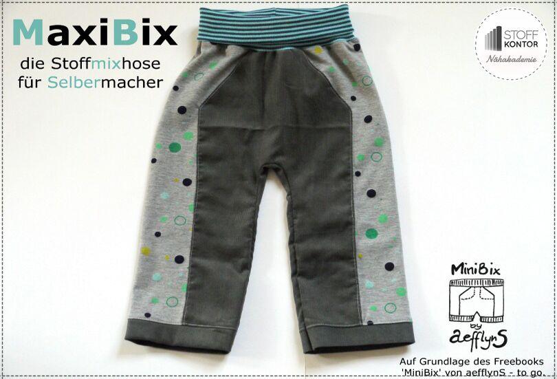 Kostenlose Nähanleitung für die MaxiBix Kinderhose