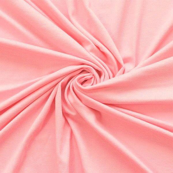 Viskose Stretch Jersey Basic Rosa