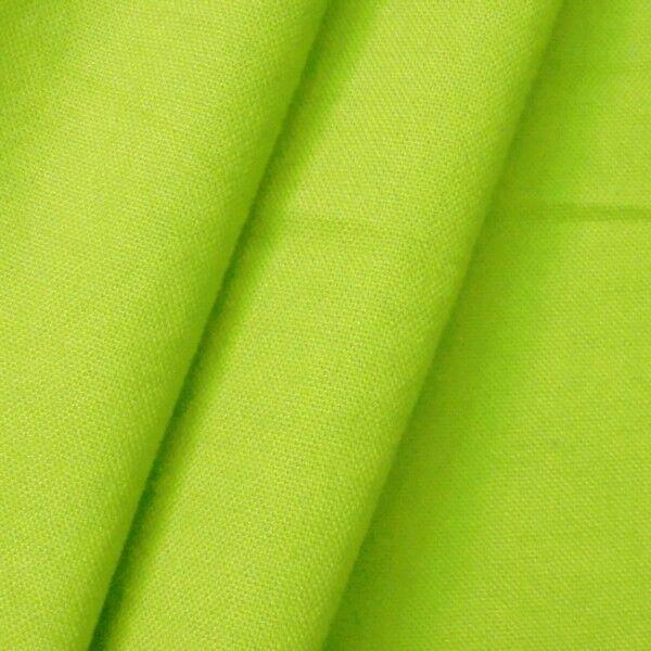100% Baumwolle Canvas Farbe Lind-Grün