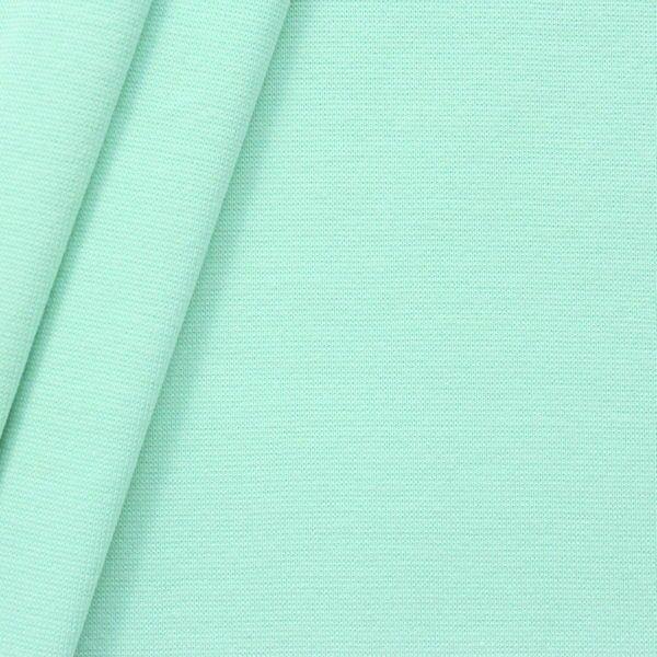"Baumwoll Bündchenstoff ""glatt"" Farbe Mint-Grün"