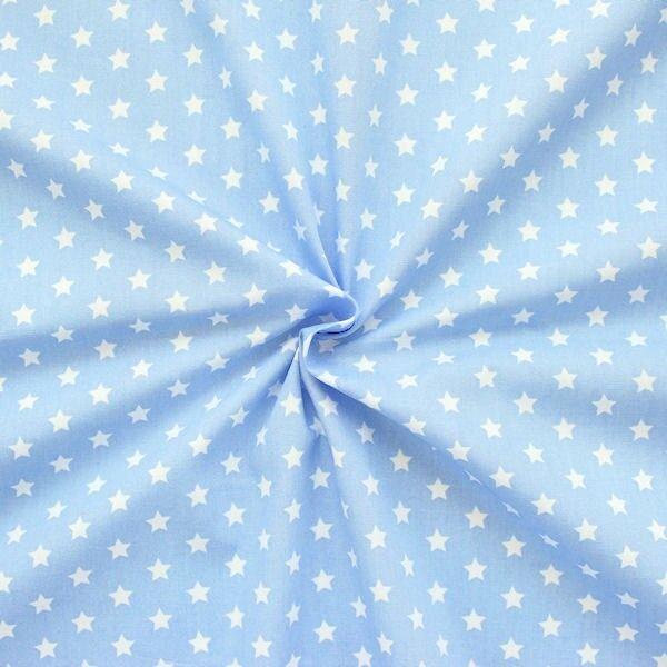Baumwollstoff Sterne Hell-Blau