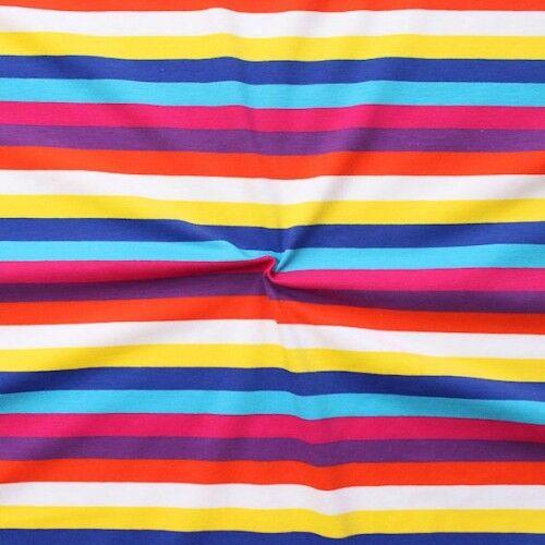 """Baumwoll Stretch Jersey """"Streifen Mix 3"""" Multicolor"""