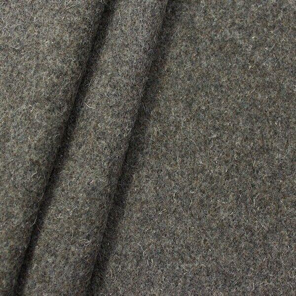 100% Schurwolle Mantelstoff schwere Qualität Farbe Grau-Braun meliert
