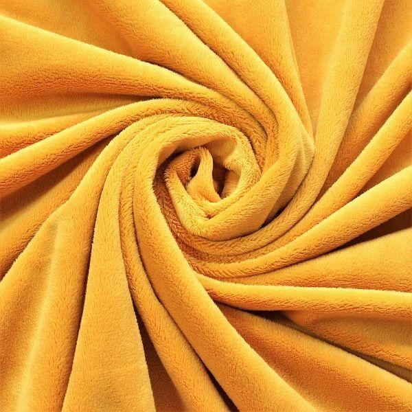 Kuschelfleece Plüschstoff Minky Gold-Gelb