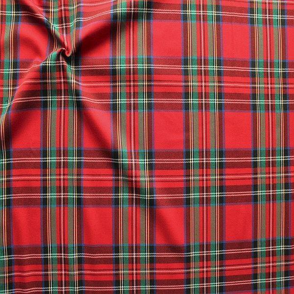 Modestoff / Dekostoff Classic Schottenkaro Rot