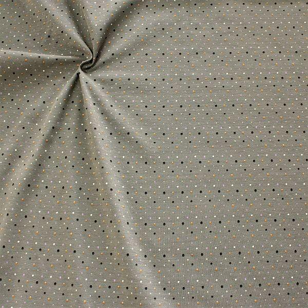 Baumwoll Stretch Jersey Konfetti Dots Grau