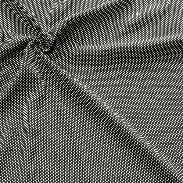 Viskose Javanaise Kleine Punkte Schwarz-Weiss