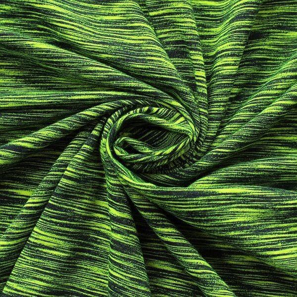 Baumwoll Stretch Jersey Two Tone Gift-Grün