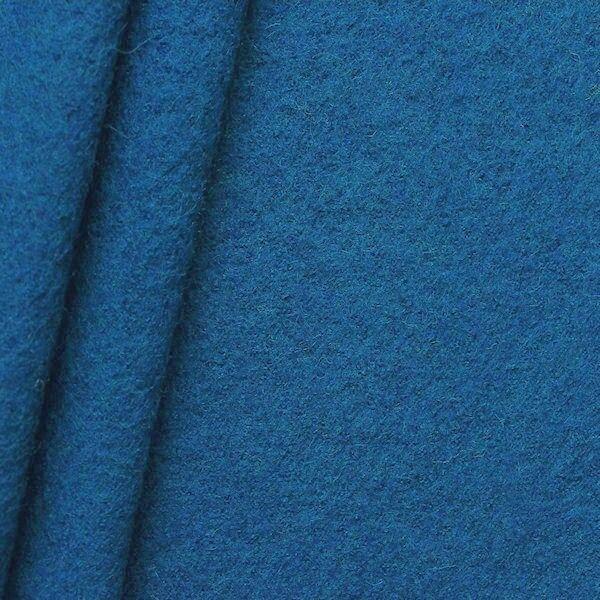 100% Wolle Walkloden Kobalt-Blau