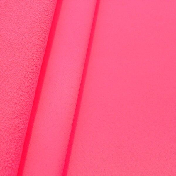 Softshell Fleece Stoff Neon-Pink