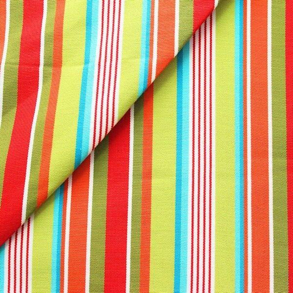 """Liegestuhl / Outdoorstoff Breite 45cm """"Streifen Mix 3"""" Farbe Multicolor"""
