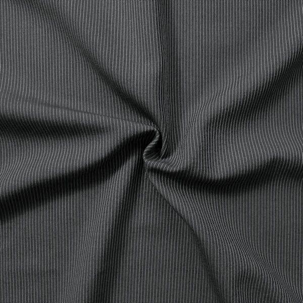 Wollmix Modestoff Nadelstreifen Dunkel-Grau