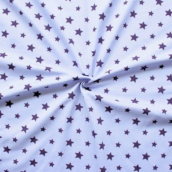 "Baumwoll Stretch Jersey ""Sterne Mix 13"" Farbe Lila"
