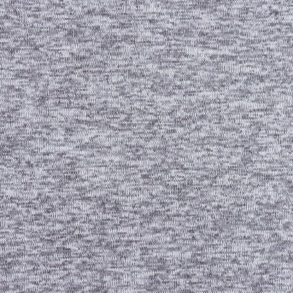 Strick Fleece Melange Hell-Grau