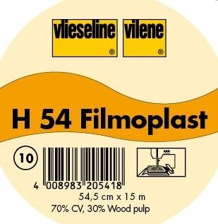 Vlieseline selbstklebende Stickeinlage Typ Filmoplast H 54 Farbe Weiss