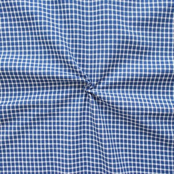Baumwolle Dekostoff Kleines Landhaus Karo Blau