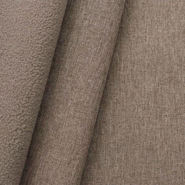 Softshell Fleece Stoff Melange Braun