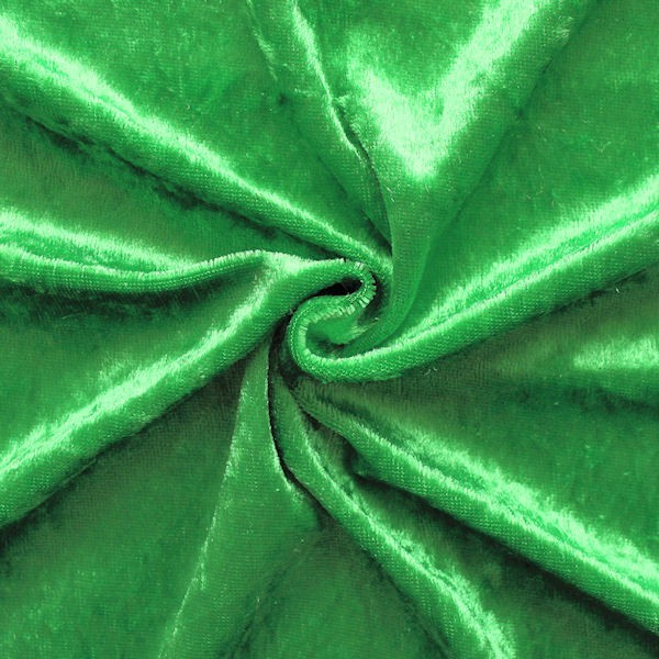 Pannesamt Farbe Gras-Grün
