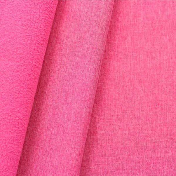 Softshell Fleece Stoff Melange Pink