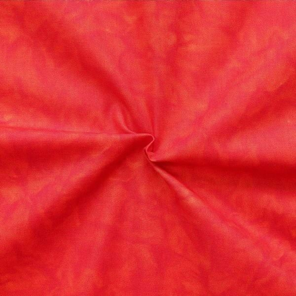 100% Baumwollstoff Batik Optik Rot