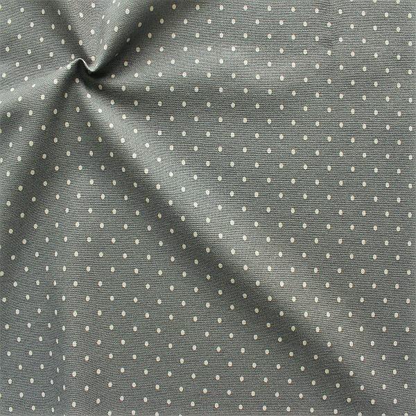 Dekostoff Vintage Punkte Grau