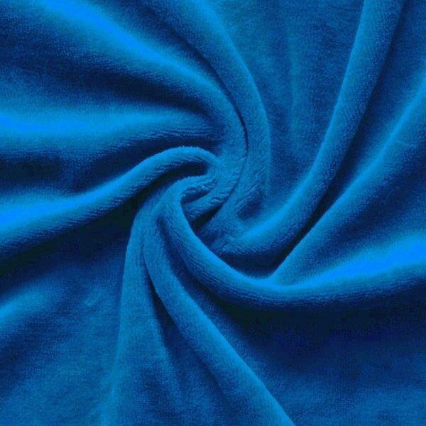 Nicki Baumwollstoff Farbe Royal-Blau