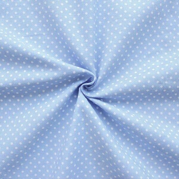 """Feincord Baumwollstoff """"Punkte Klein"""" Farbe Hell-Blau"""