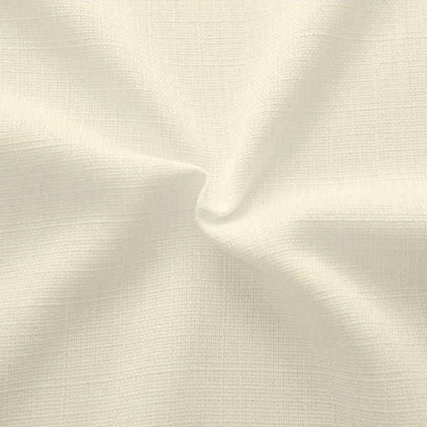 """Modestoff / Dekostoff universal """"Leinen Optik"""" Farbe Creme-Weiss"""