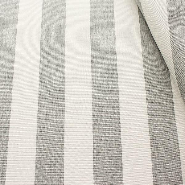 Indoor Outdoorstoff Blockstreifen Grau meliert-Ecru