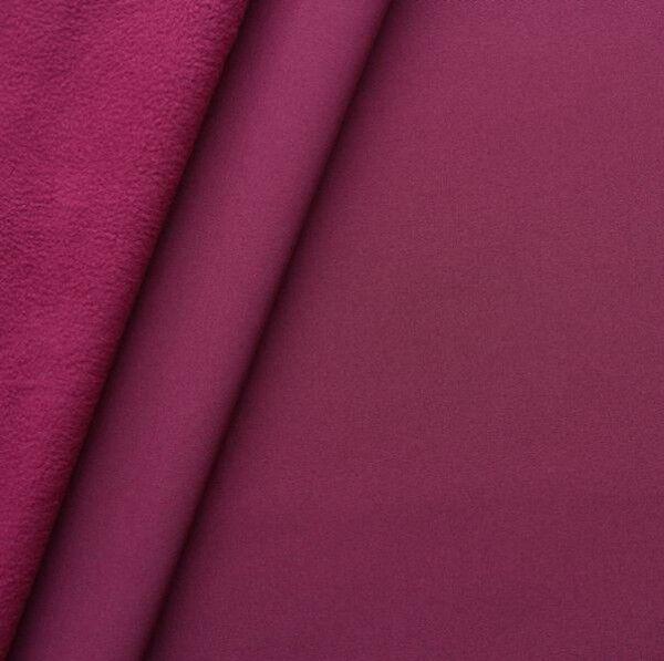 Softshell Fleece Stoff Farbe Bordeaux
