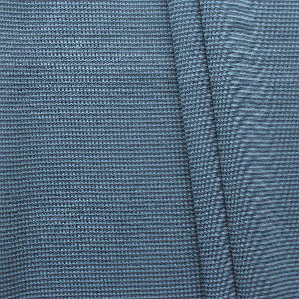 Baumwoll Bündchenstoff Ringel Mini glatt Blau