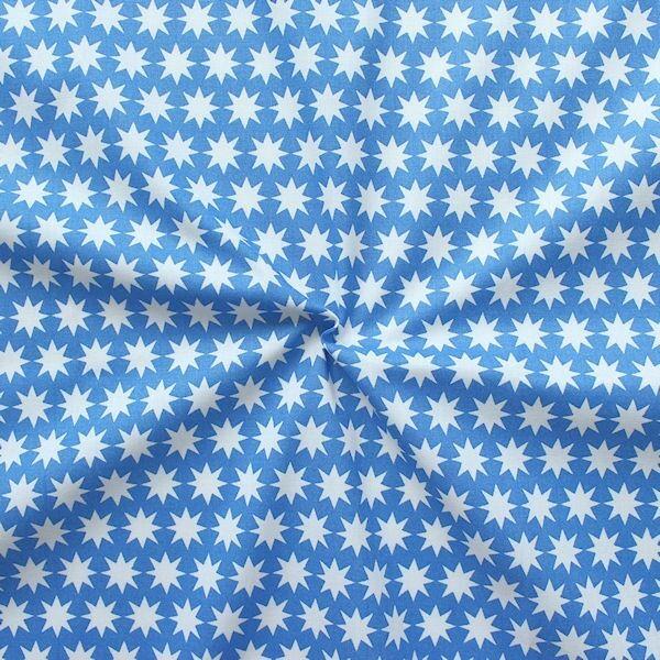 Baumwollstoff Achterstern Blau