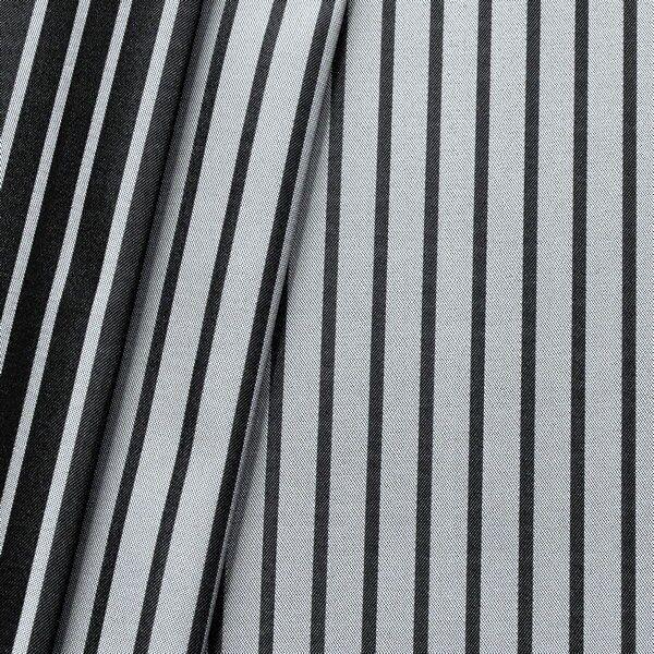 """Taft Dekostoff Doubleface """"Silver Line"""" Farbe Silber-Grau Schwarz"""