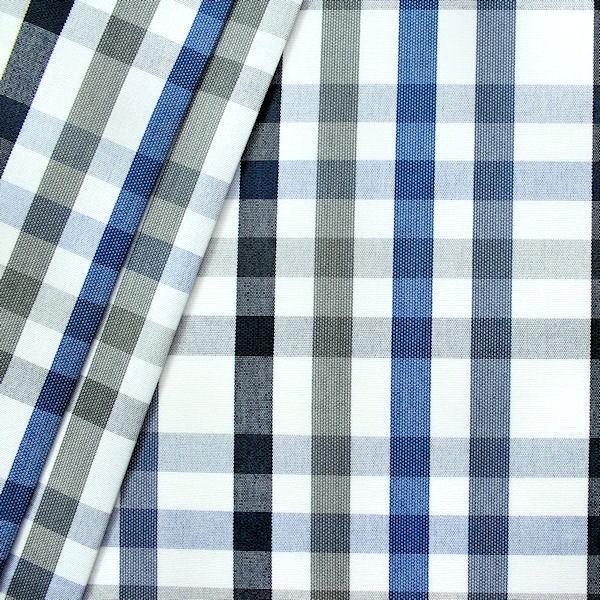 "Deko-/ Outdoorstoff ""Karo Mix"" Artikel Yaiza Farbe Blau"