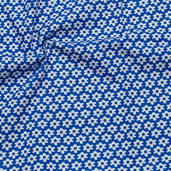 Baumwolle Popeline Blümchen Royal-Blau