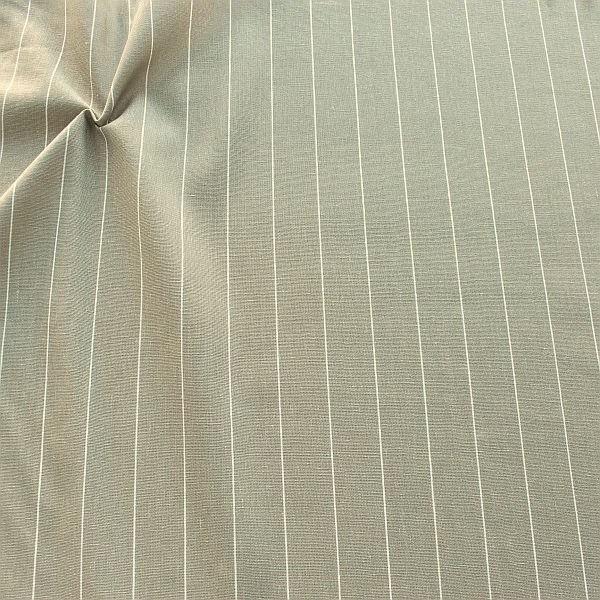 Viskose-Leinen Stoff Fine Stripes Grau-Beige