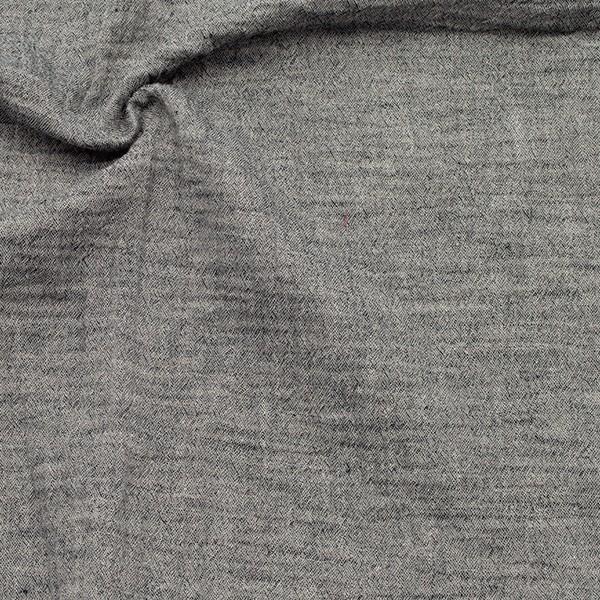 Baumwolle Musselin Double Gauze Melange Dunkel-Grau