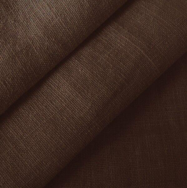 100% Leinen Stoff Artikel Barcelona, Farbe Dunkel-Braun