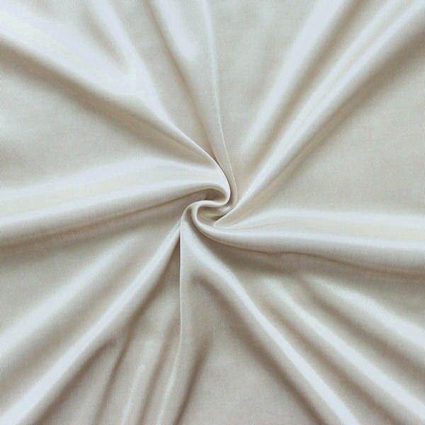 Charmeuse Bekleidungs-/ Futterstoff Farbe Perlbeige